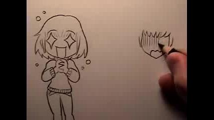 20 начина да нарисуваш - Chibi Emotions
