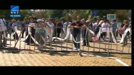 Задържаха Найо Тицин на протеста пред парламентa!