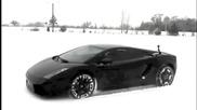 Lamborghini на сняг Hd