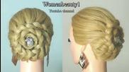 Прическа за дълга коса с плетене на косата