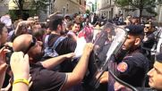 Italy: Police clash with protesters as PM Renzi meets Milan mayor