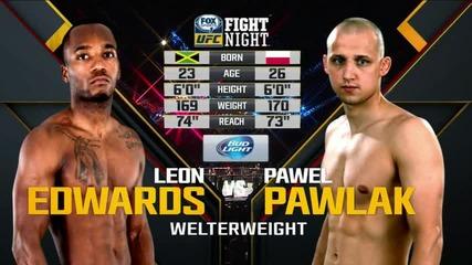 Pawel Pawlak vs Leon Edwards (ufc Fight Night 72, 18.07.2015)