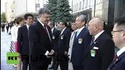 Ukraine: Poroshenko welcomes Shinzho Abe to Kiev