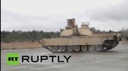 Estonia: See M1A2 Abrams tanks show off their capabilities