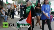 France: Activists protest in solidarity with Mohammed Allan