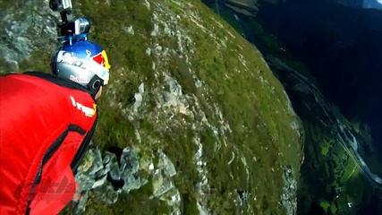 Wingsuit jumps .. 100% adrenaline