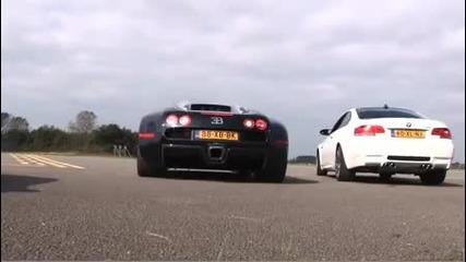 Bugatti Veyron издухва Bmw M3