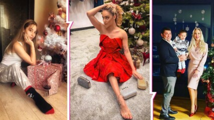 Секси Снежанки, семейни портрети и много нетърпение: Популярните българи в очакване на Рождество