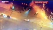Зверска катастрофа между скутер и автобус!