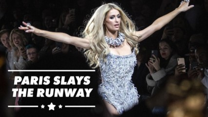 Paris Hilton & Lil' Kim model for The Blonds at NYFW