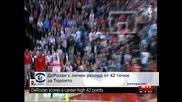"""ДеРозан с личен рекорд от 42 точки за """"Торонто"""""""