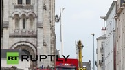 France: Roof of 19th century basilica goes up in flames