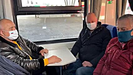 Бойко Борисов и Росен Желязков инспектира нови мотриси на БДЖ (2)