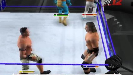 Wwe 12 Live Рей Мистерио срещу Син Кара срещу Трите Хикса срещу Джон Сина