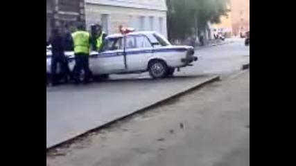 G класа срещу руската полиция