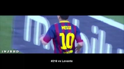 Меси написа историята! всички 253 гола на Меси в Ла Лига