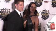 Звездите Ален Муси и Сара Малакул Лейн на премиерата на филма си Кикбоксьор: Отмъщение (2016)