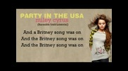 * Hq * Miley Cyrus - Party In The Usa [ Karaoke / Instrumental ]