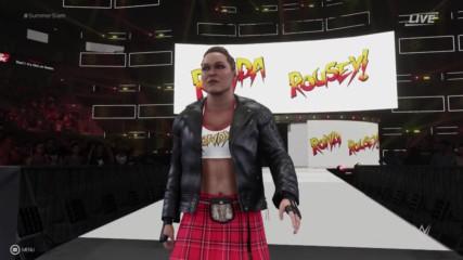 WWE 2K19 Ronda Rousey entrance video