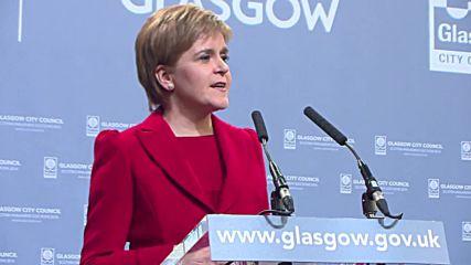 UK: SNP leader Nicola Sturgeon hails third Scottish election victory