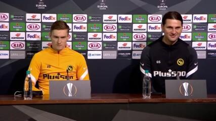 Пресконференция на Йънг Бойс преди гостуването на ЦСКА в Лига Европа