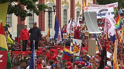 Venezuela: President Maduro leads May Day demonstration in Caracas