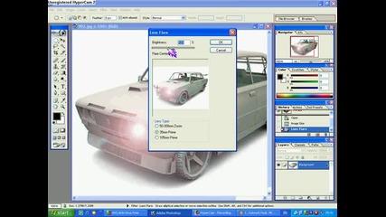 Как да слагаме светлини на фаровете на коли с Photoshop7.0