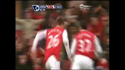01.03 Арсенал - Астън Вила 1:1 Никалас Бендер гол