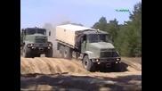 Руски камиони демонстрират сила - Краз !