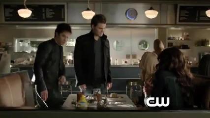 The Vampire Diaries - 4x18 - American Gothic - Част от епизода с Ребека, Катрин, Стефан и Деймън