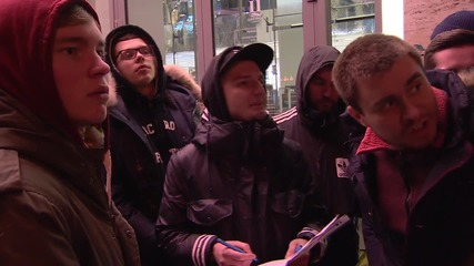 Russia: Muscovites camp out in freezing cold for Kanye West's latest sneakers