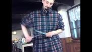 Отчене На Нож На Едно Кило Ракия !