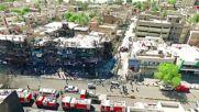 Ирак: Разрушенията от бомбата, убила над 290 души, от дрон