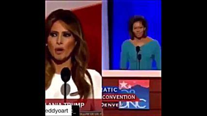 Открадна ли Мелания Тръмп речта на Мишел Обама