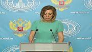 Russia: Ankara's claims of Moscow arming PKK are 'fiction and nonsense' - Zakharova