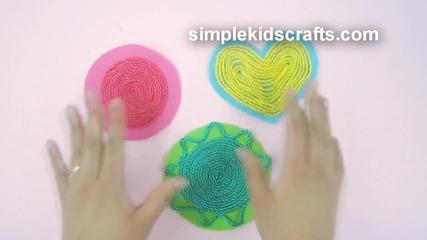 Как да направим украса за стаята и подложки за чаши от въже