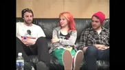 Paramore Paramorefans Interview Part 1