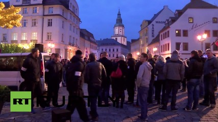 Germany: The far-right march against refugees in Doebeln