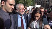 UK: Corbyn declines comment after Cameron announces resignation over Brexit