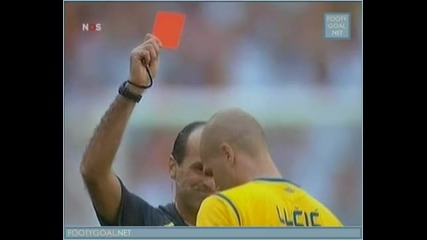 Изумителен червен картон!