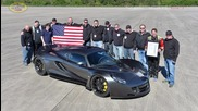 Hennessey Venom Gt achieving world record for fastest top speed production car