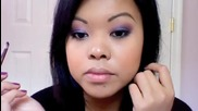 Makeup Tutorial Silver Purple