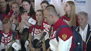 Russia: Olympic team departs from Moscow ahead of Rio 2016