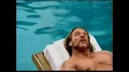 Triple h & John Cena в реклама на плажно масло