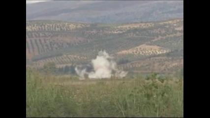 Турската армия отново е обстрелвала територията на Сирия