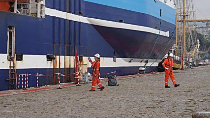 Кораб за сеизмични проучвания акостира във Варна