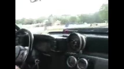Twin Turbo Mustang Gt Driving Around On The Street