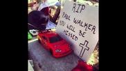 Rip Пол Уокър фамилии, Приятели и Фенове На Crash Site [raw 2013]