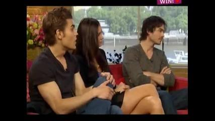 * New * Nina, Paul and Ian on U K - The Wampire Diaries *