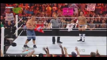 Fan throws Cena's Shirt back at him - Raw 8/22/11